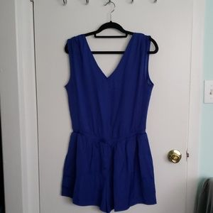 NWT LOFT Royal Blue Romper